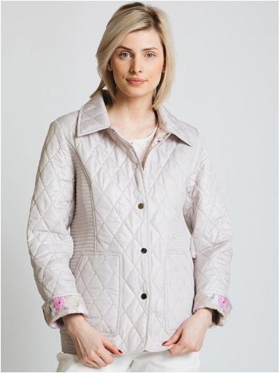 Jessica Graaf print lined quilt jacket
