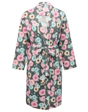 Summer floral print jersey robe