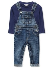 Denim dungarees and top set (9mths-3yrs)