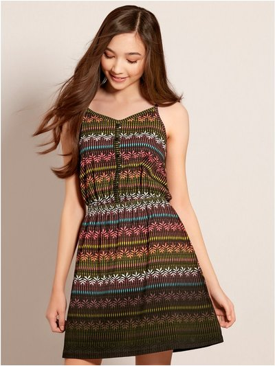 Teens' aztec print dress