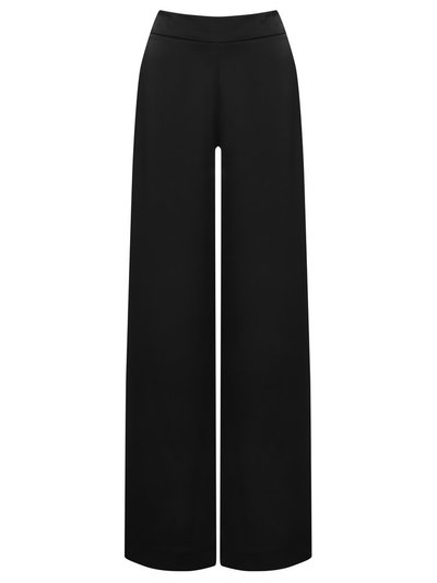 Wide leg satin trousers