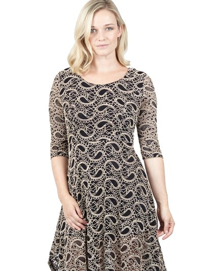 Izabel paisley lace dress