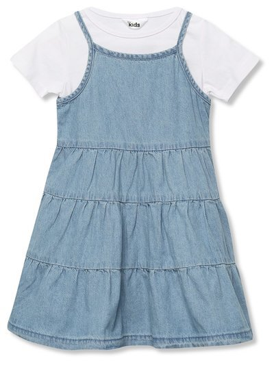 Tiered denim dress and top set (9mths-5yrs)