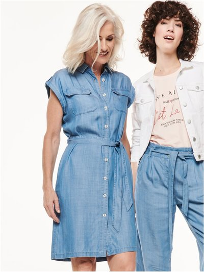 Tencel denim shirt dress