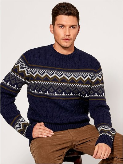 Fairisle cable knit jumper