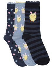 Easter chick socks three pack