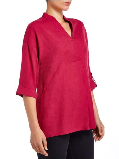 VIZ-A-VIZ pleat front blouse