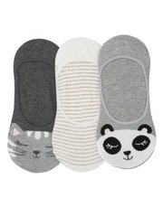 Animal footsie socks three pack