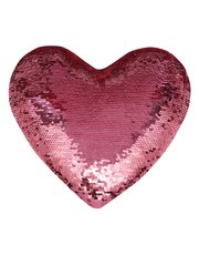 Heart shaped flip sequin cushion