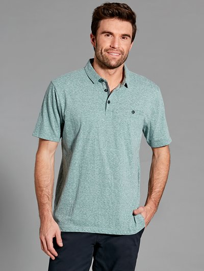 Stripe texture polo shirt