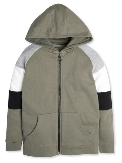 Colour block zip hoodie (3-12yrs)