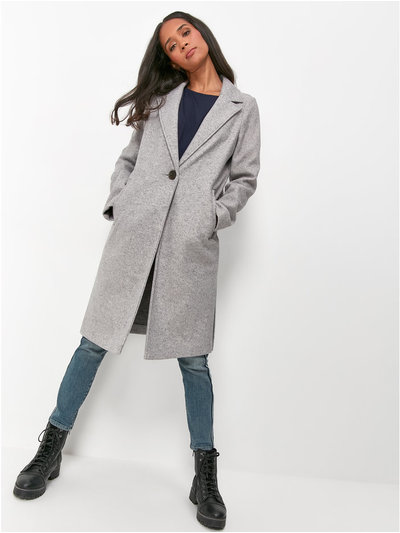 Khost Clothing wool longline coat
