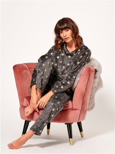 Spot fleece pyjama set