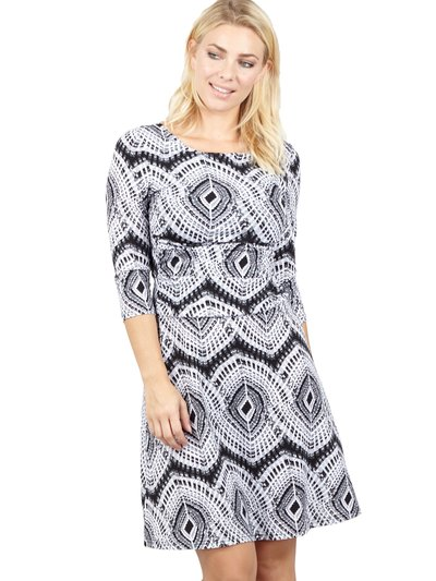 Izabel geo print tea dress