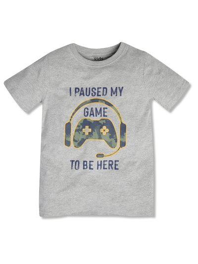 Gaming slogan t-shirt (3-12yrs)
