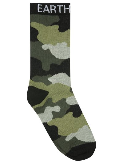 Teen earth girl slogan camo socks two pack