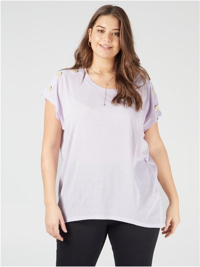 Blue Vanilla Curve button oversized tee