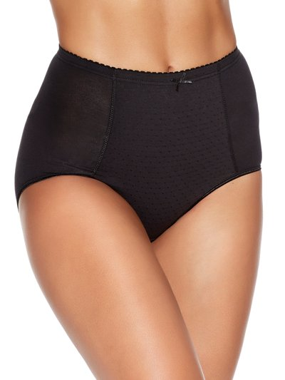 Spot front high waist light control briefs