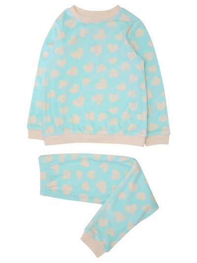 Love heart fleece pyjamas (18 mths - 5 yrs)