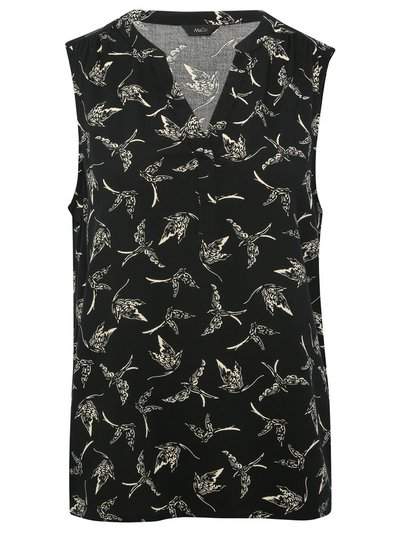 Swallow print sleeveless top