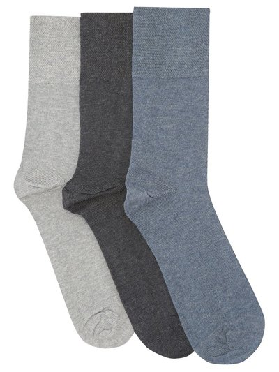 Gentle Grip Diabetic Socks Three Pack