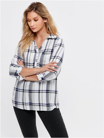 Laundered check shirt