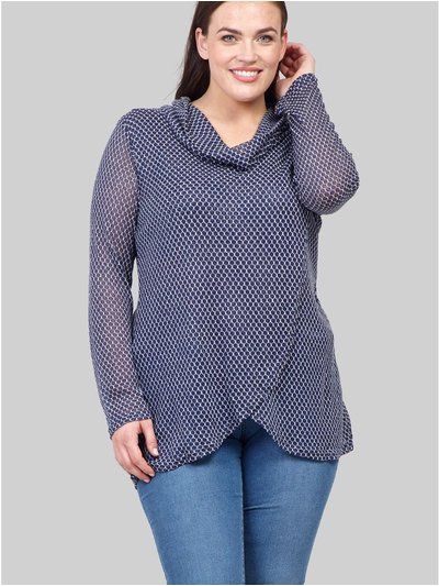 Izabel Curve roll neck knitted top