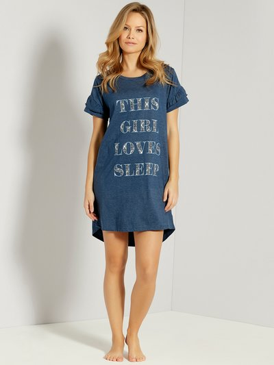 Sleep slogan nightdress