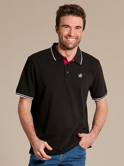 Deer logo polo shirt