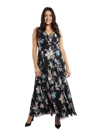 Scarlett and Jo plus Nancy Marilyn chiffon maxi dress