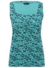 Butterfly print square neck top