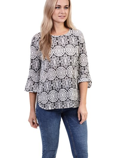 Izabel mosaic print top