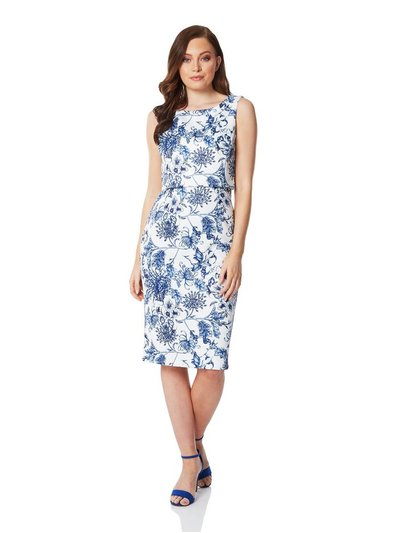 Roman Originals floral double layer scuba dress