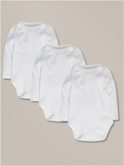 Long sleeve bodysuits three pack (Tiny baby -18mths)