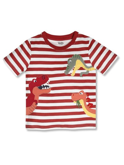 Striped dinosaur t-shirt (9mths-5yrs)