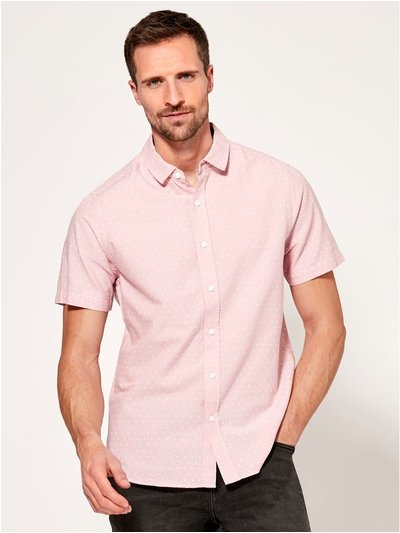 Spot print short sleeve shirt