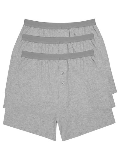 Cotton jersey plain grey boxers three pack