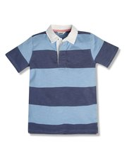 Striped rugby polo shirt (3-12yrs)