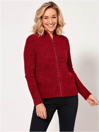 Spirit zip cardigan