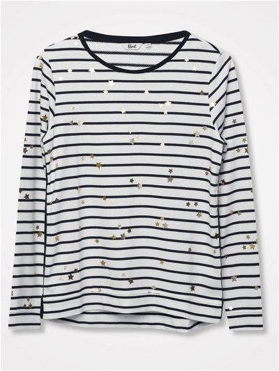 Khost Clothing foil star stripe top