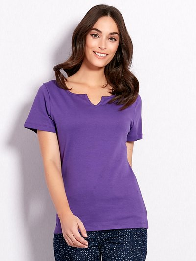 Plain notch neck t-shirt