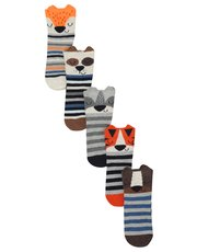 3D animal socks five pack