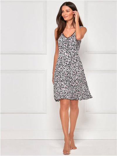 Animal print sleeveless nightdress