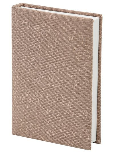 Canvas covered foil print notepad