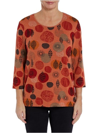 TIGI orange round neck print