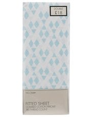 Geo print fitted sheet