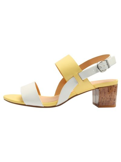 Super two band block heel sandal
