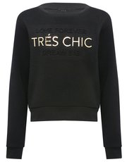 Teens' metallic slogan sweater