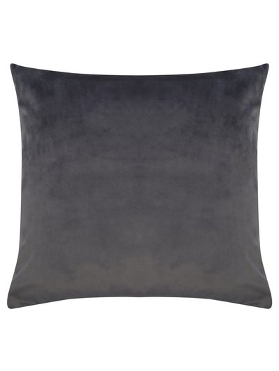 Dark grey velour cushion