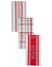 Woven tea towels three pack